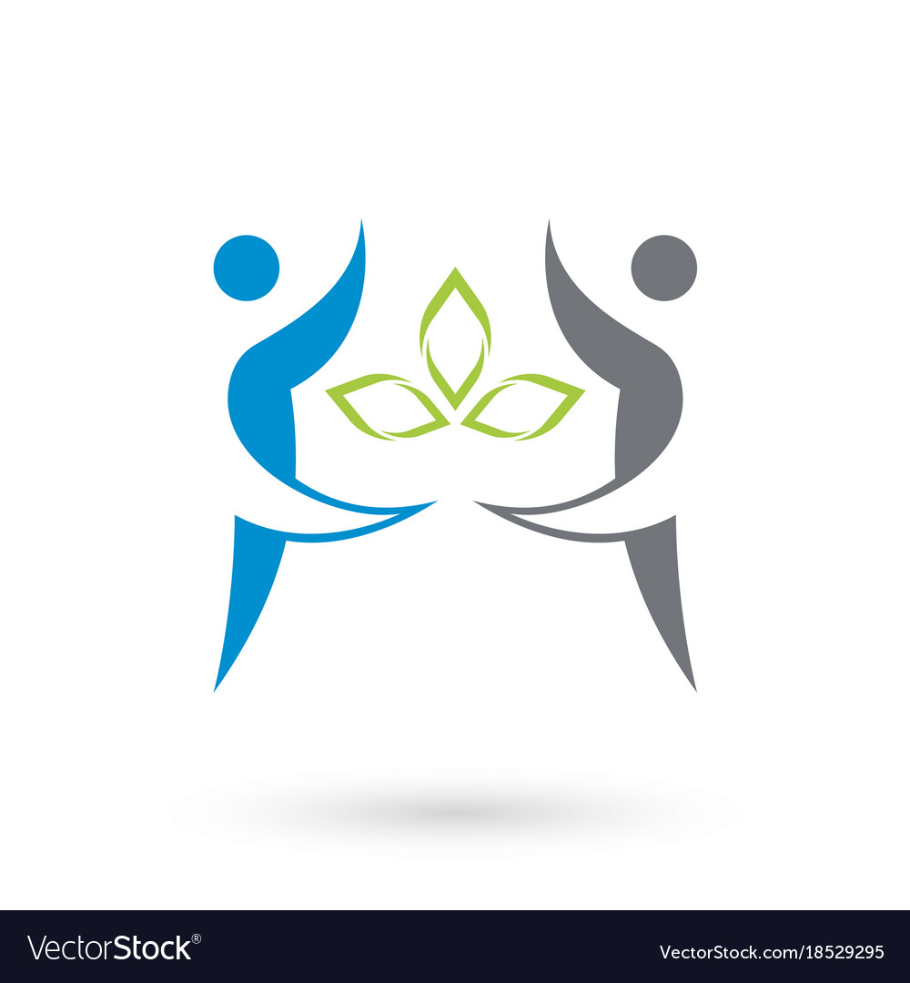 Health community logo icon
