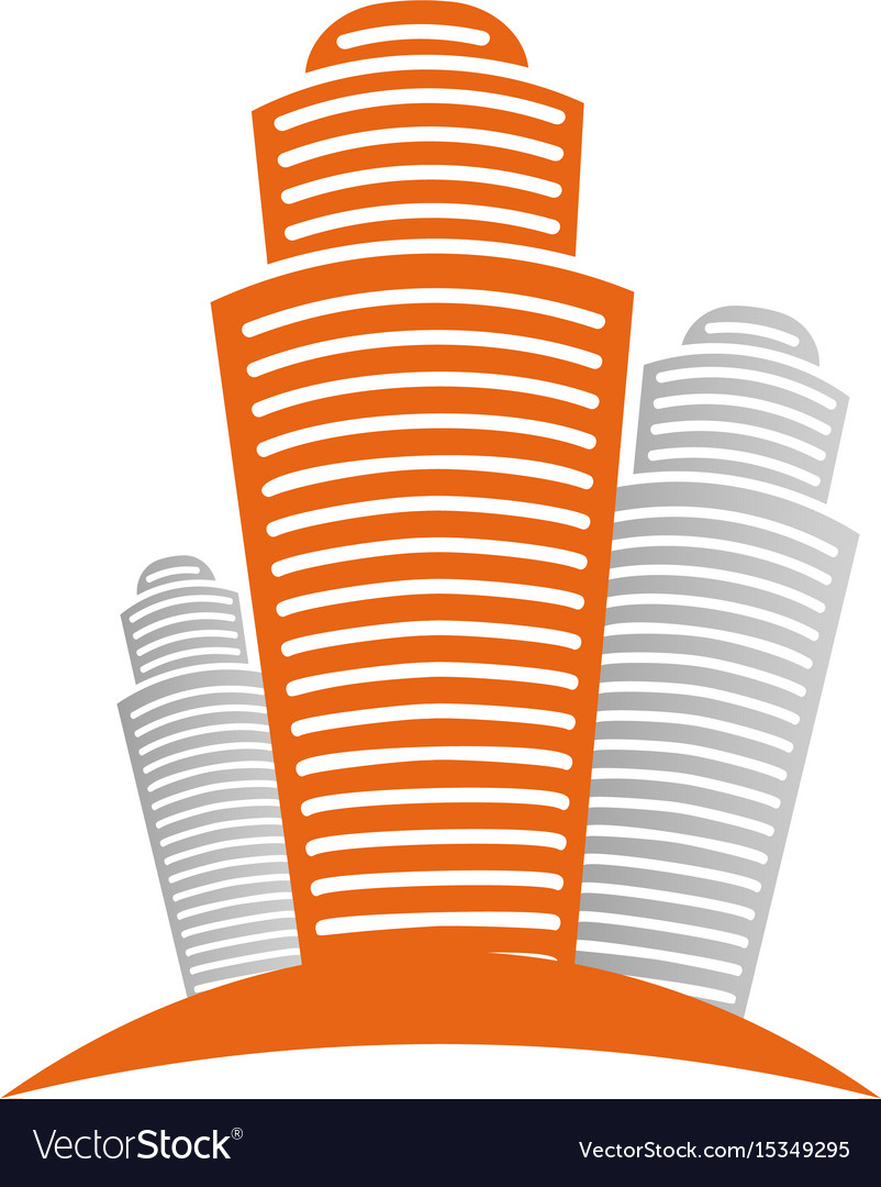 Isolated abstract city skyscraper logourban real vector image