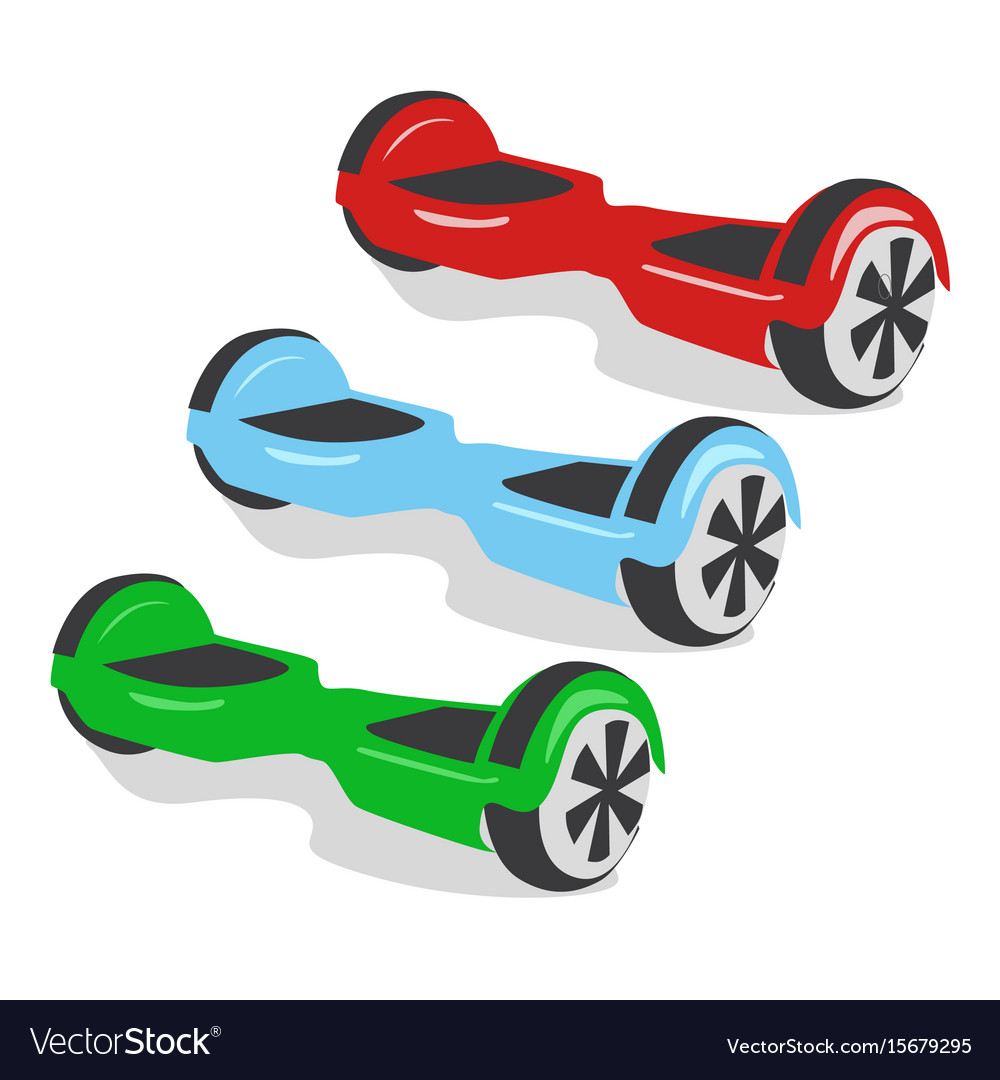 Multicolored gyroscopes personal eco transport