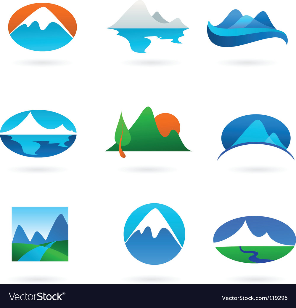 Nature logos 01 mountain theme