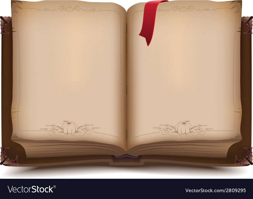 old open book for halloween royalty free vector image