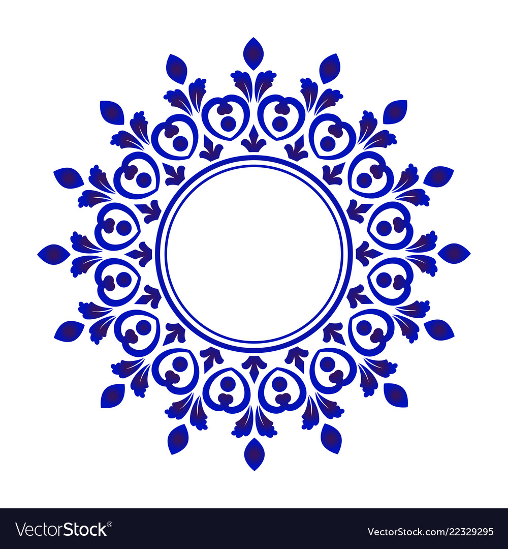 Porcelain decorative frame