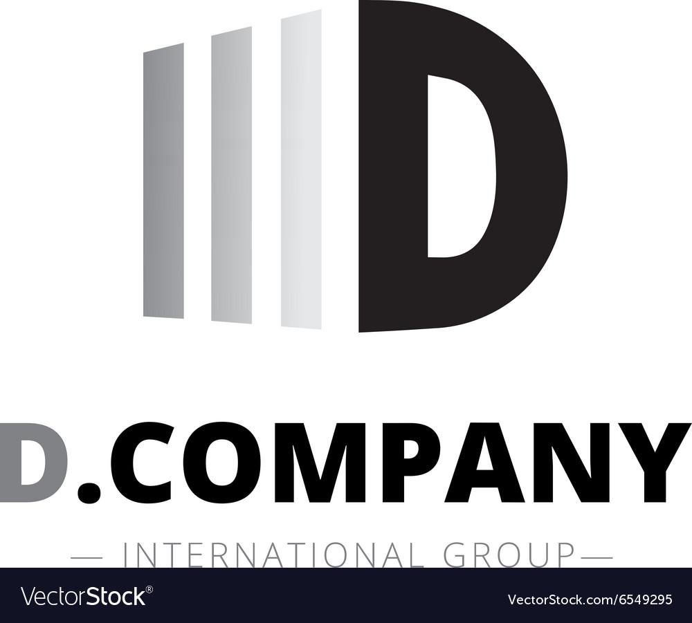 Trendy isometric D letter logo