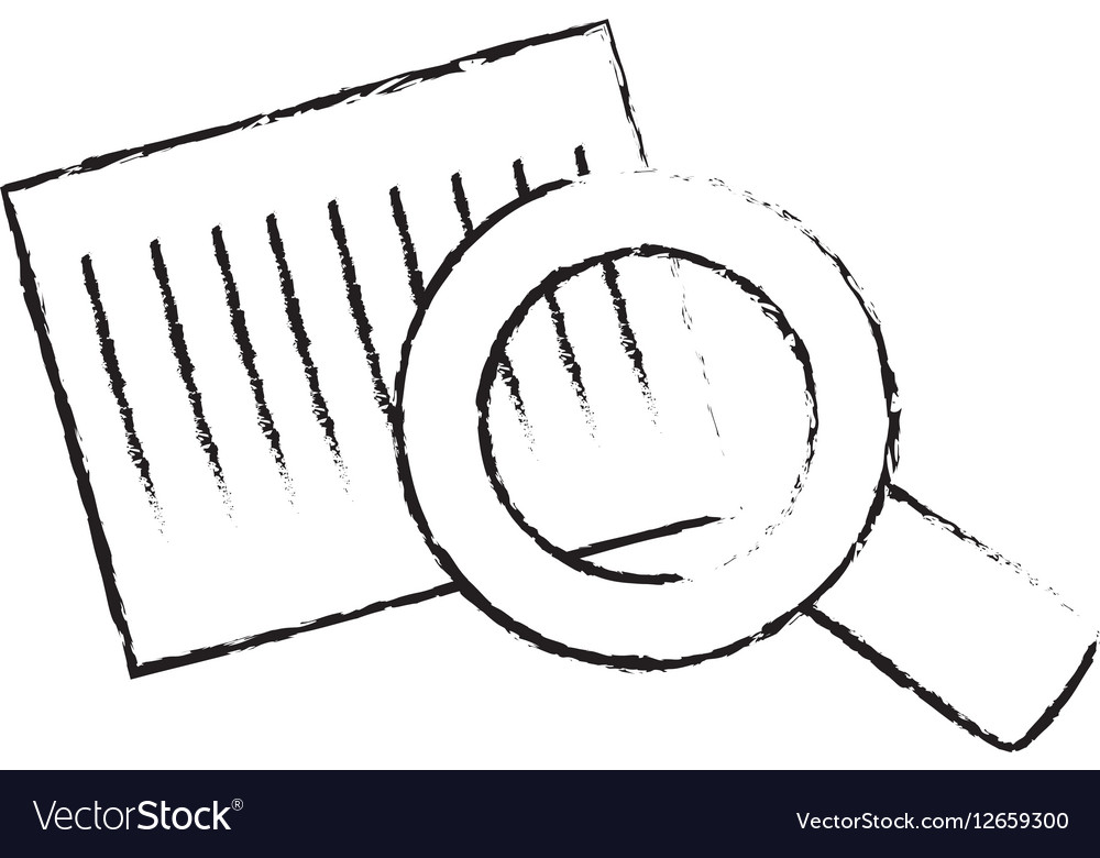 Bars code and magnifying glass