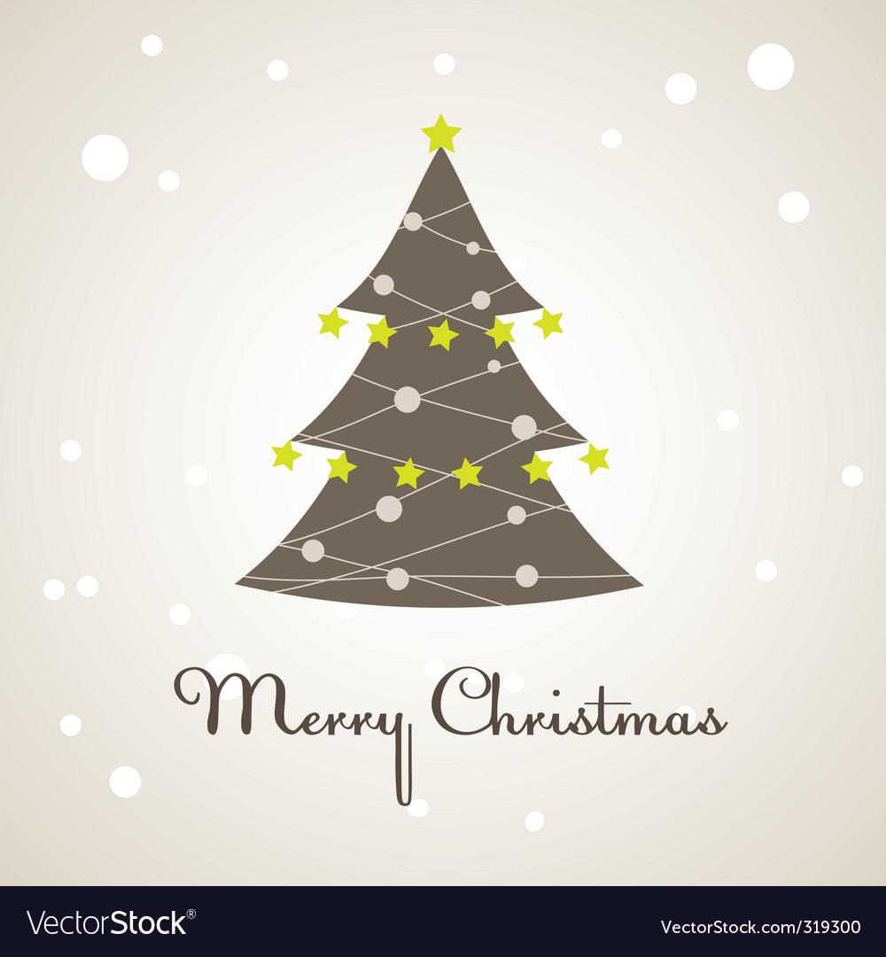 Christmas tree decoration vector illustration vector image