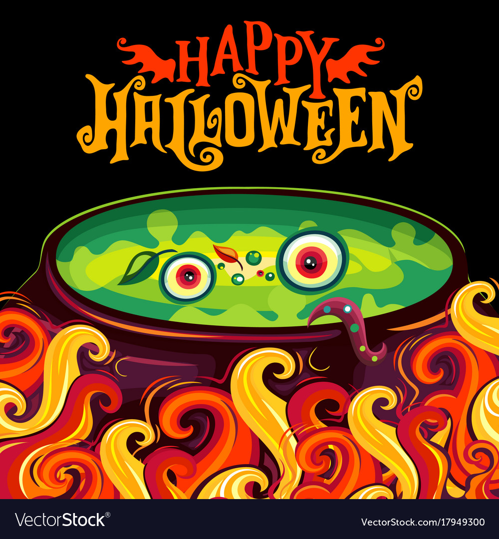 Halloween party invitation poster witch