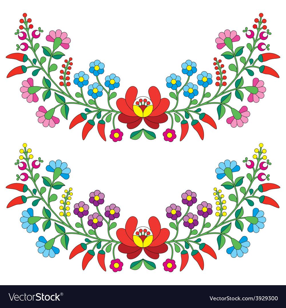 Hungarian floral folk pattern - Kalocsai