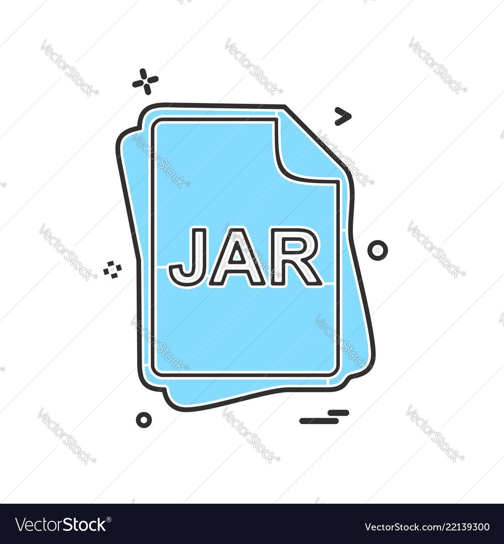 Jar file type icon design vector image on VectorStock