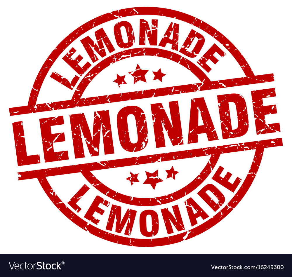 Lemonade round red grunge stamp vector image on VectorStock