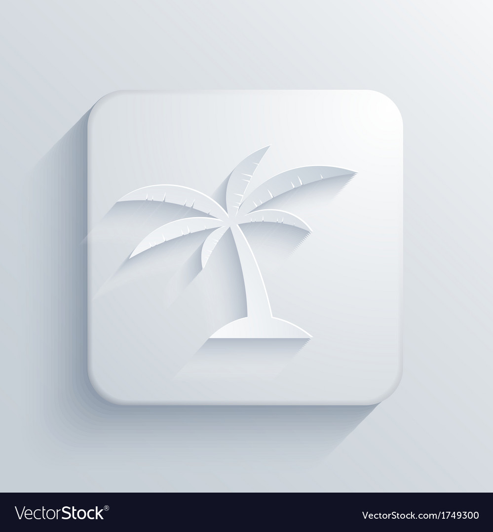 Light square icon Eps10 vector image