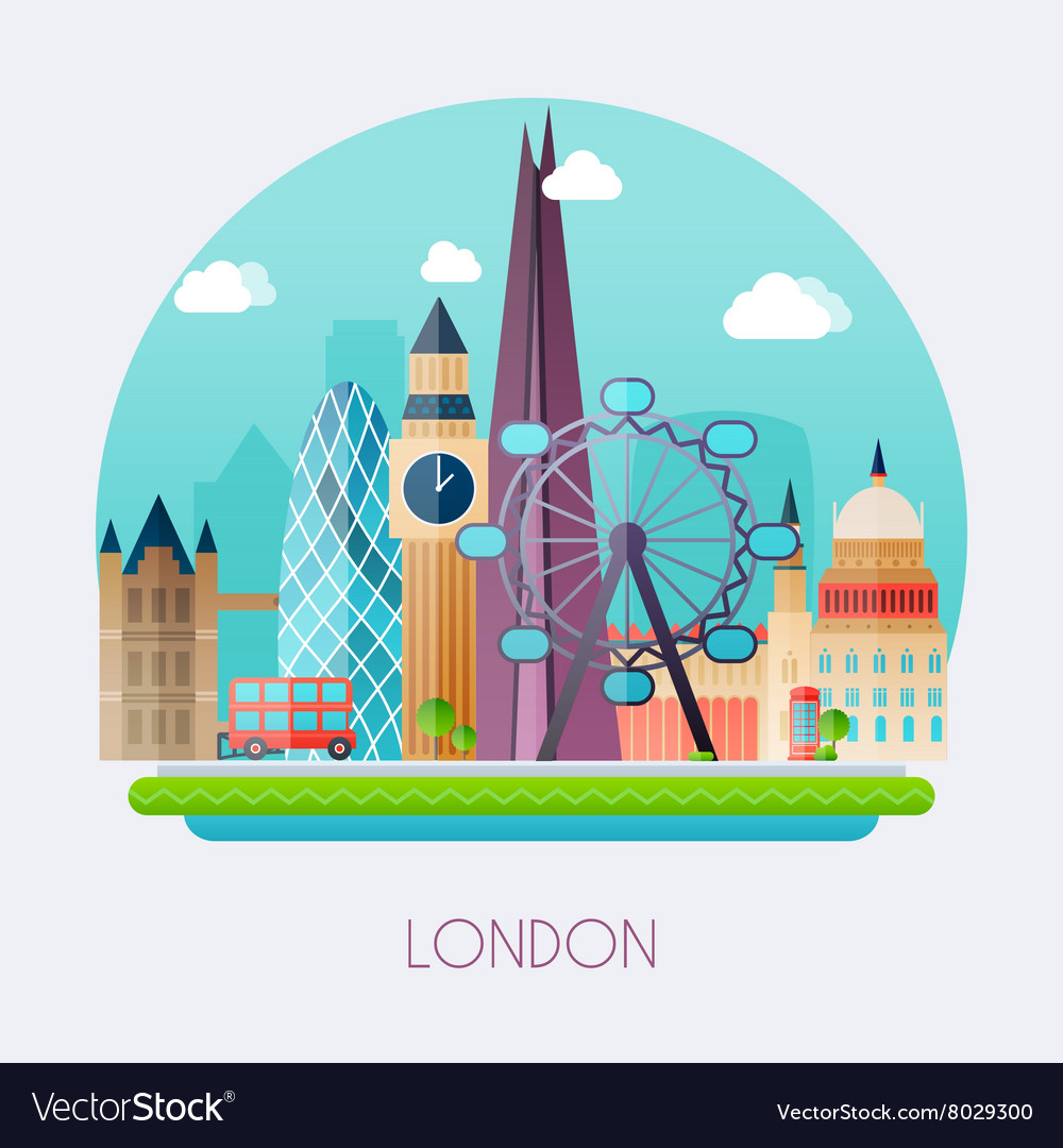 London Skyline and landscape of buildings the