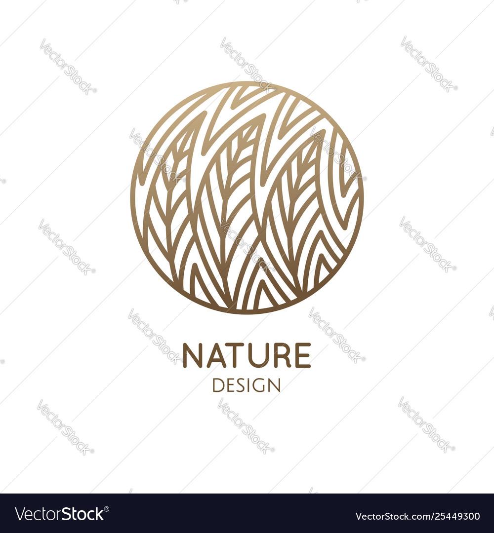 Round pattern logo forest