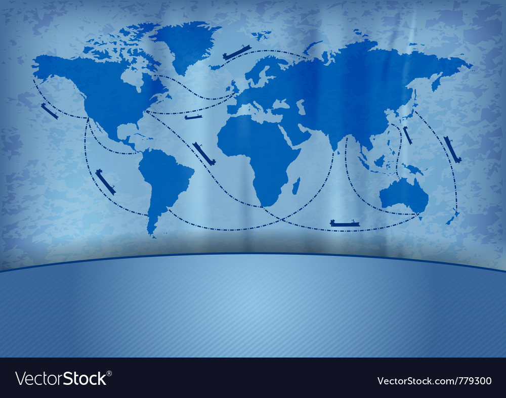 Shipping transportation routes