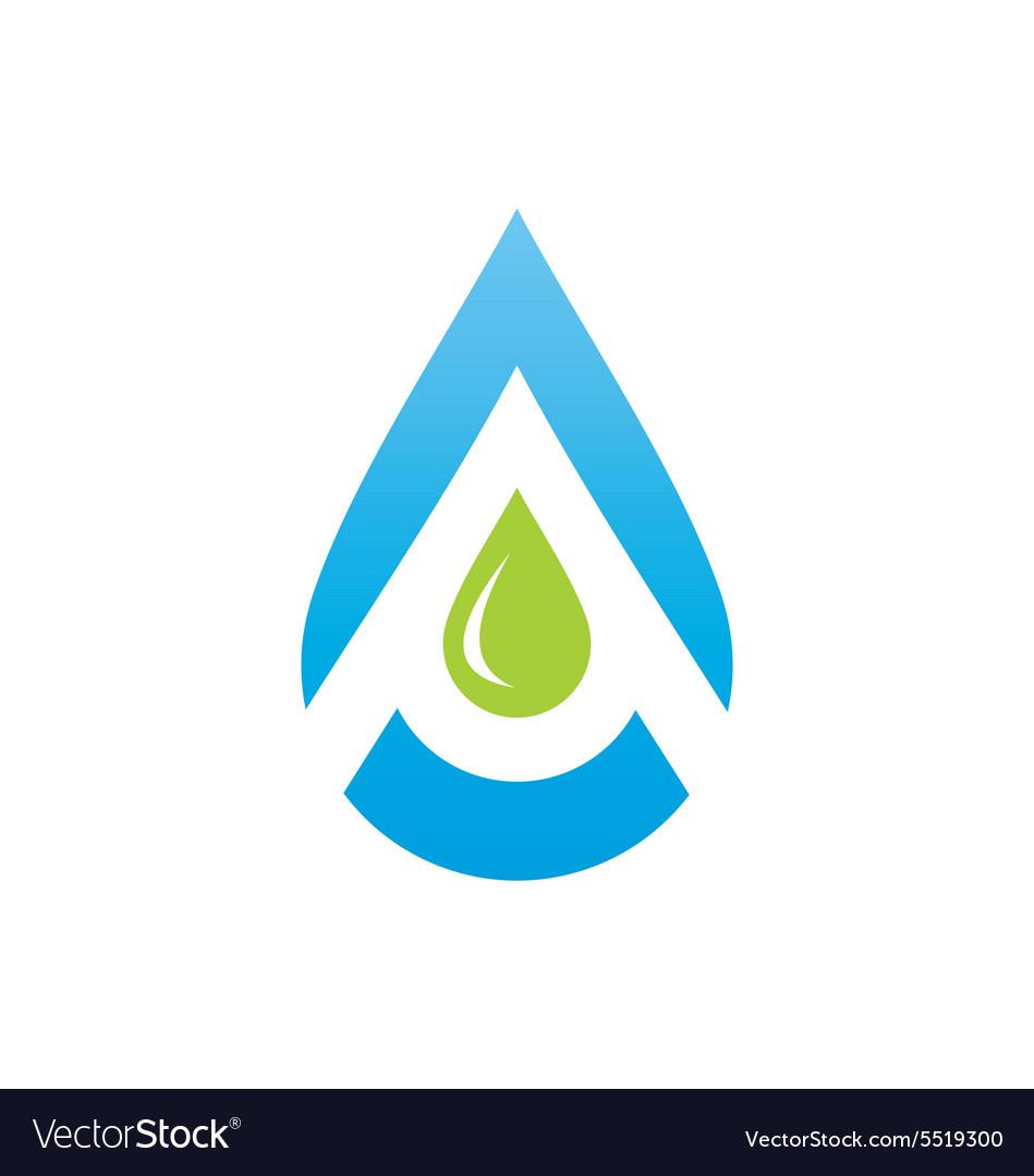 Water drop aqua blue logo