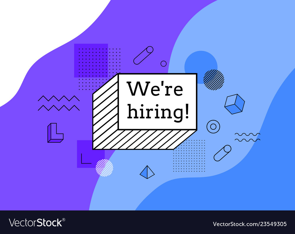 Abstract background were hiring join us
