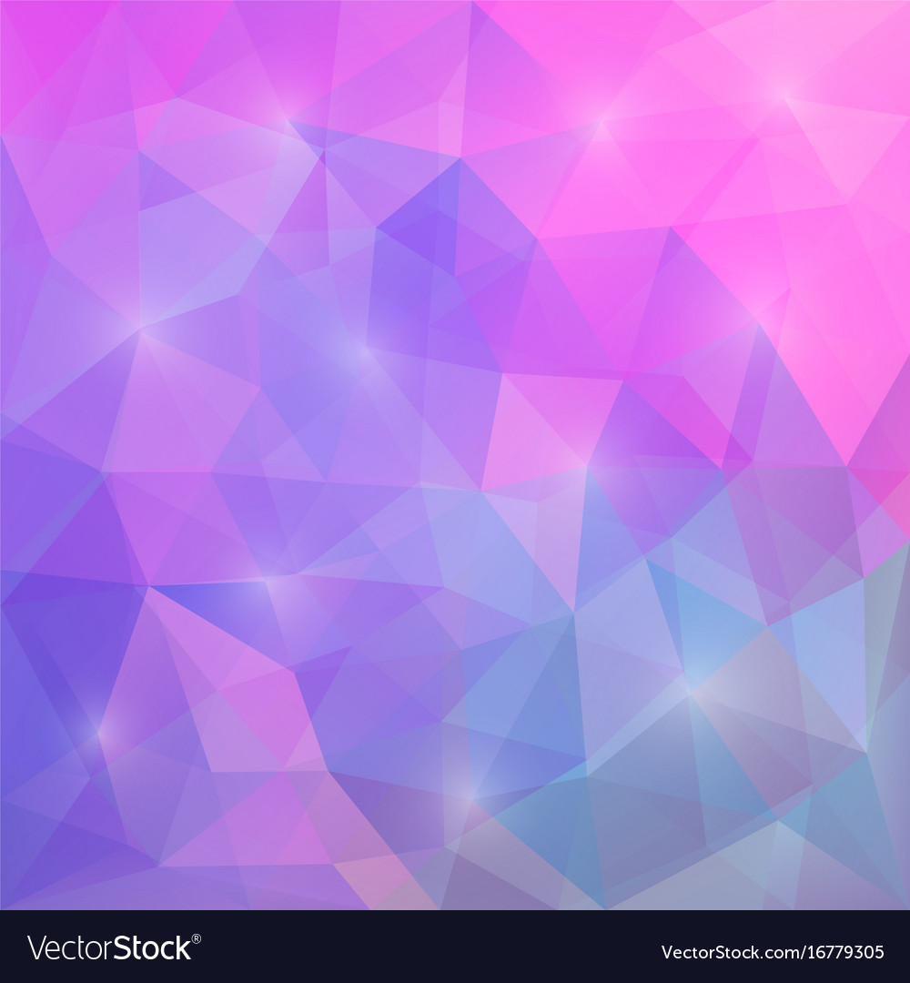 Purple Polygonal Abstract Background: Abstract Triangular Mosaic Purple Pink Background Vector Image