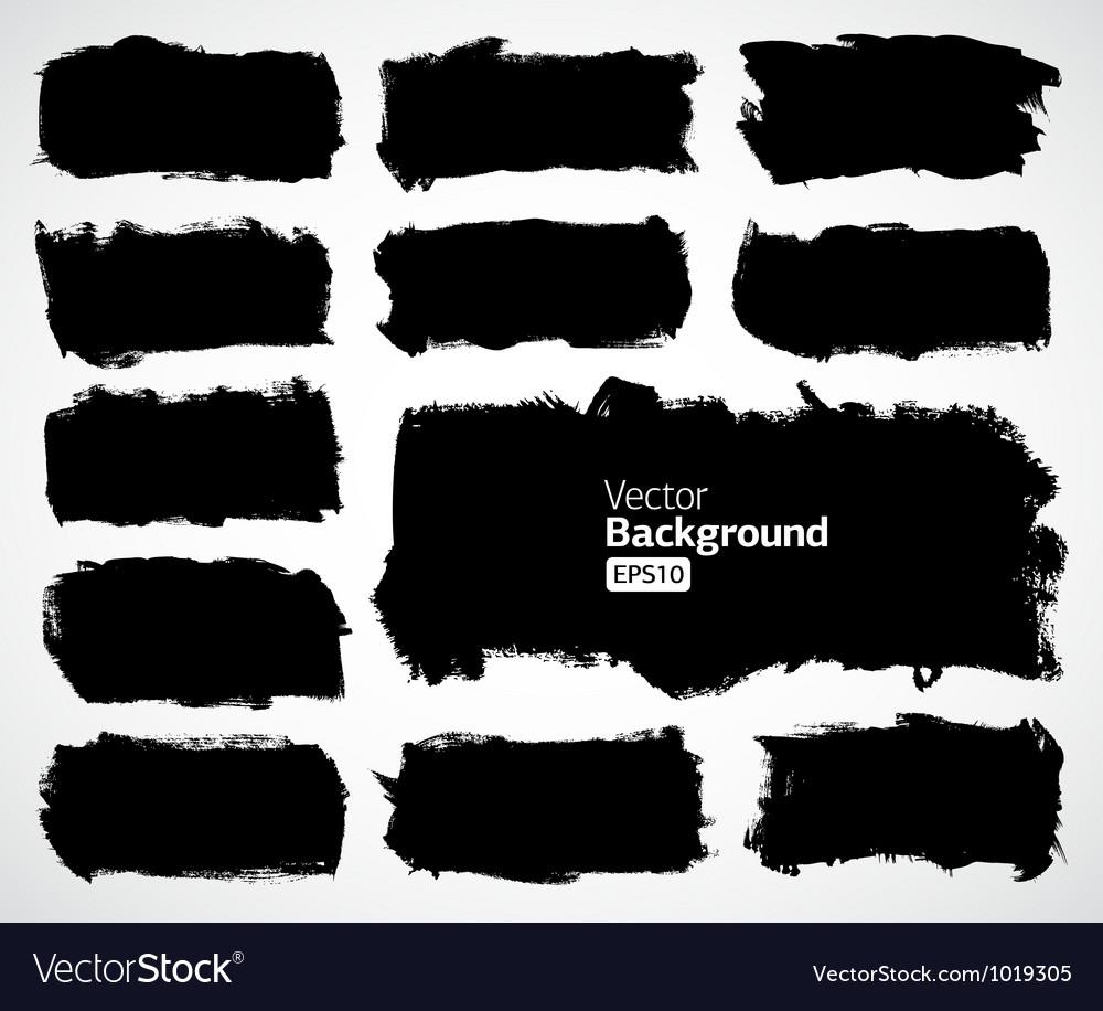 Black banners set vector image