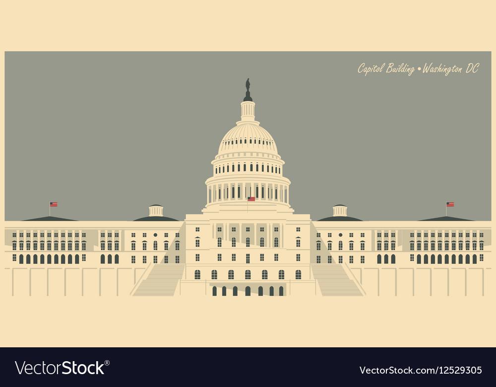 Capitol Building in Washington DC vector image
