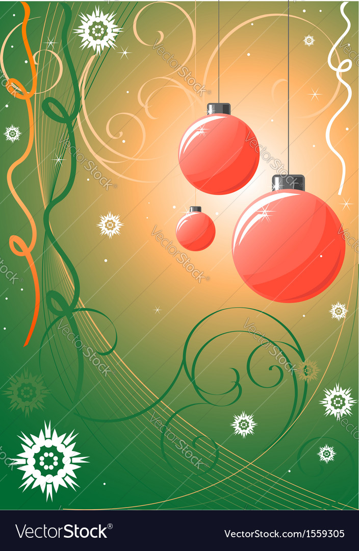 Christmass background vector image