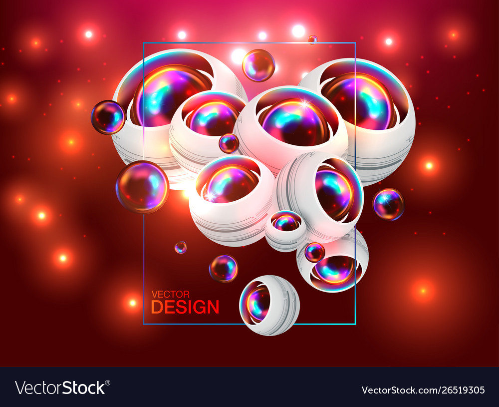 Futuristic abstract template with innovative