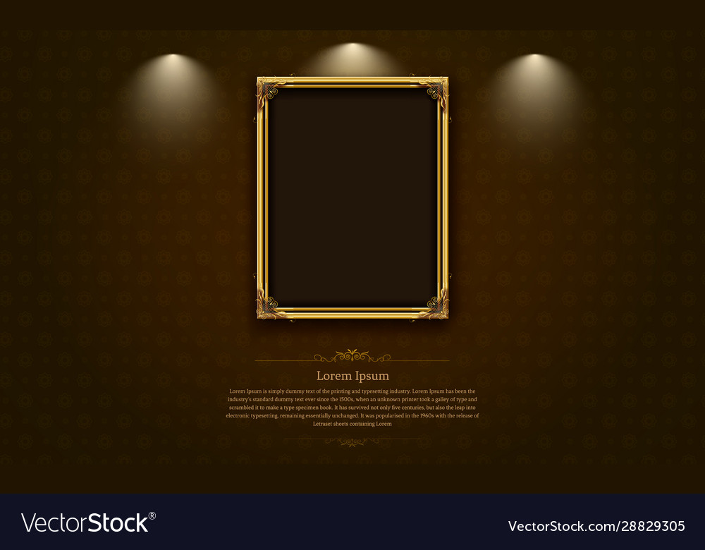 Gold frame border picture and pattern thai art