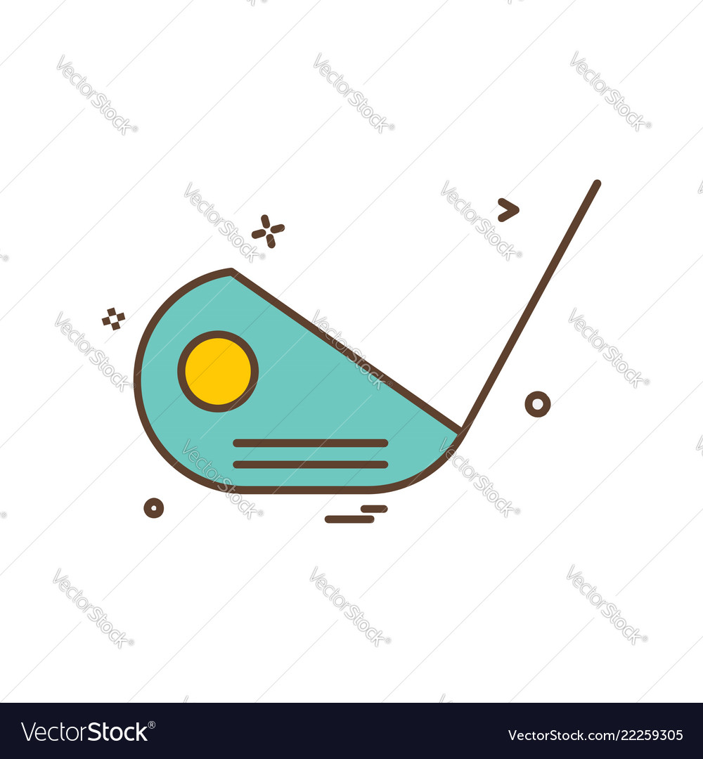 Golf stick icon design
