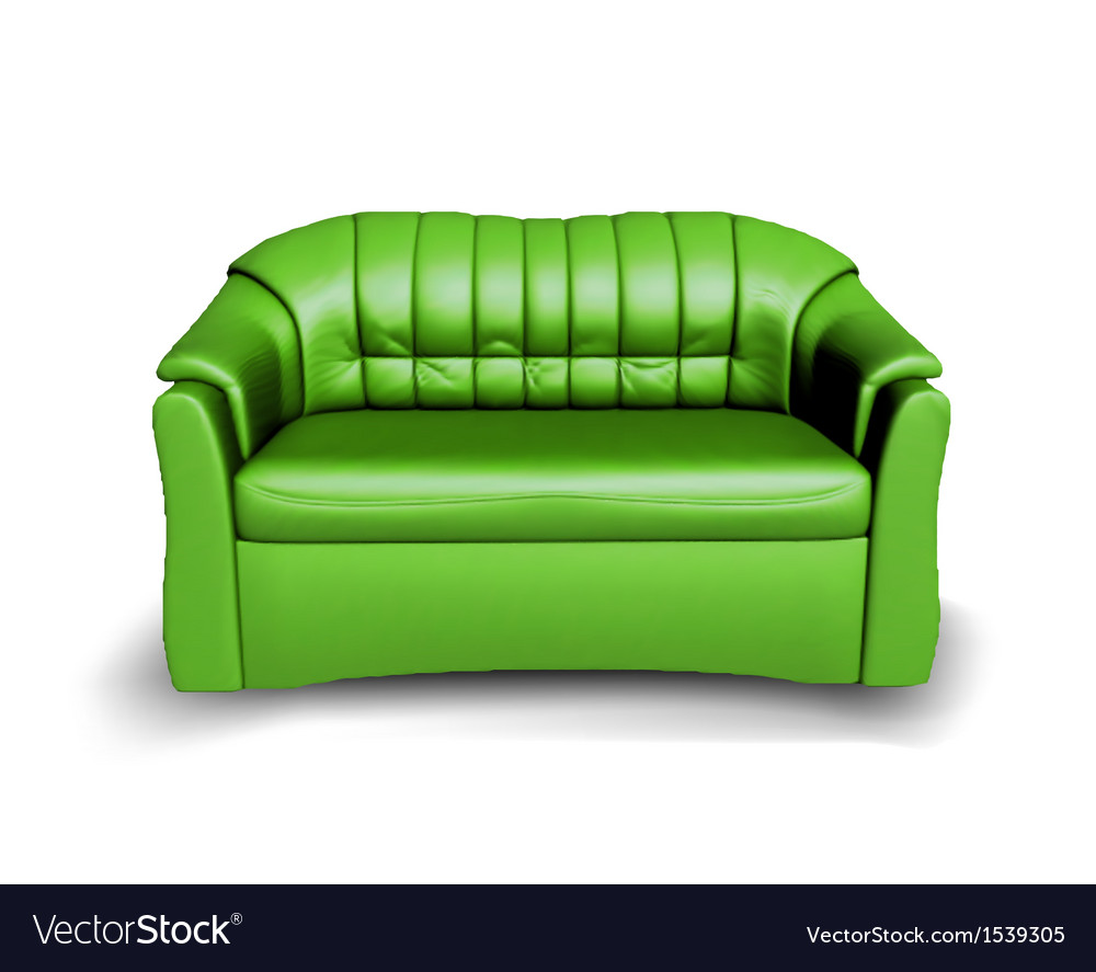 Green Sofa Royalty Free Vector Image Vectorstock