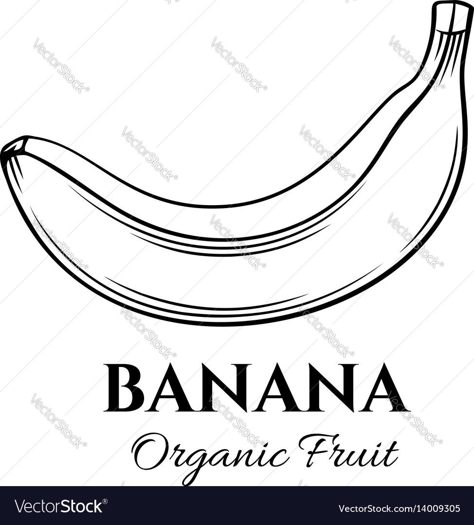 Hand drawn banana icon