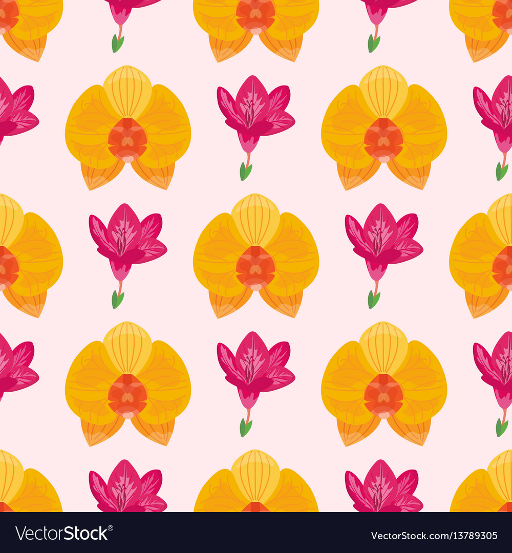 Hand drawn flower seamless pattern wallpaper with