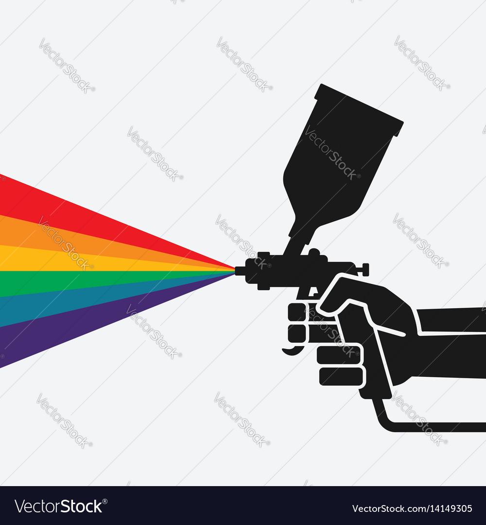 Hand with spray gun vector image