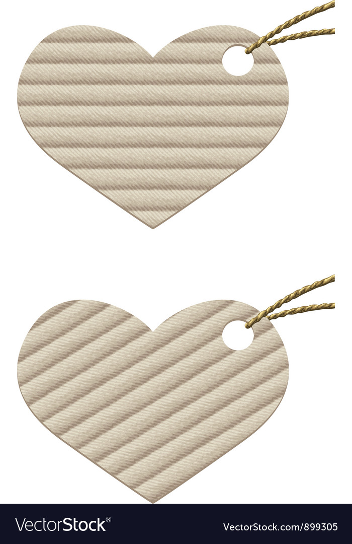 Heart Cardboard tag with rope