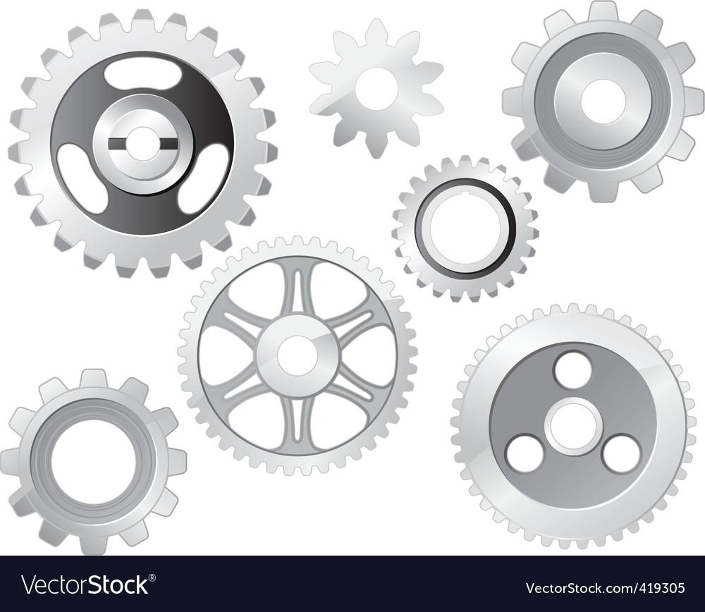 Machine gear wheel vector image