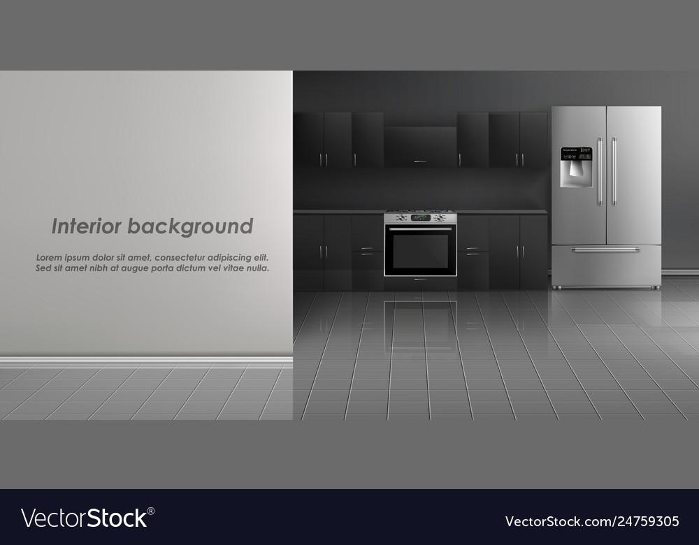 247 Kitchen.Mockup Kitchen Room Interior