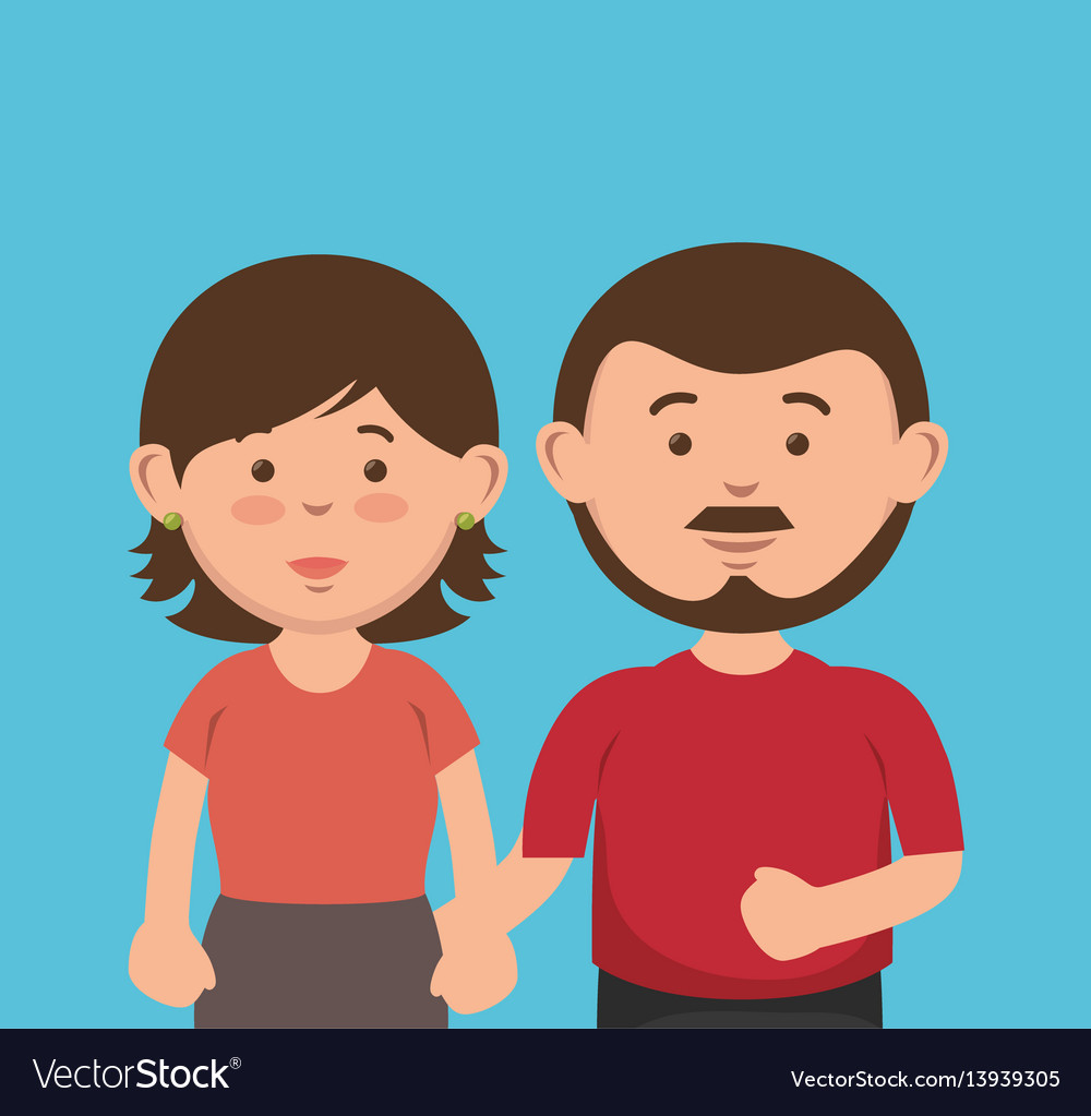 Parent couple avatars characters