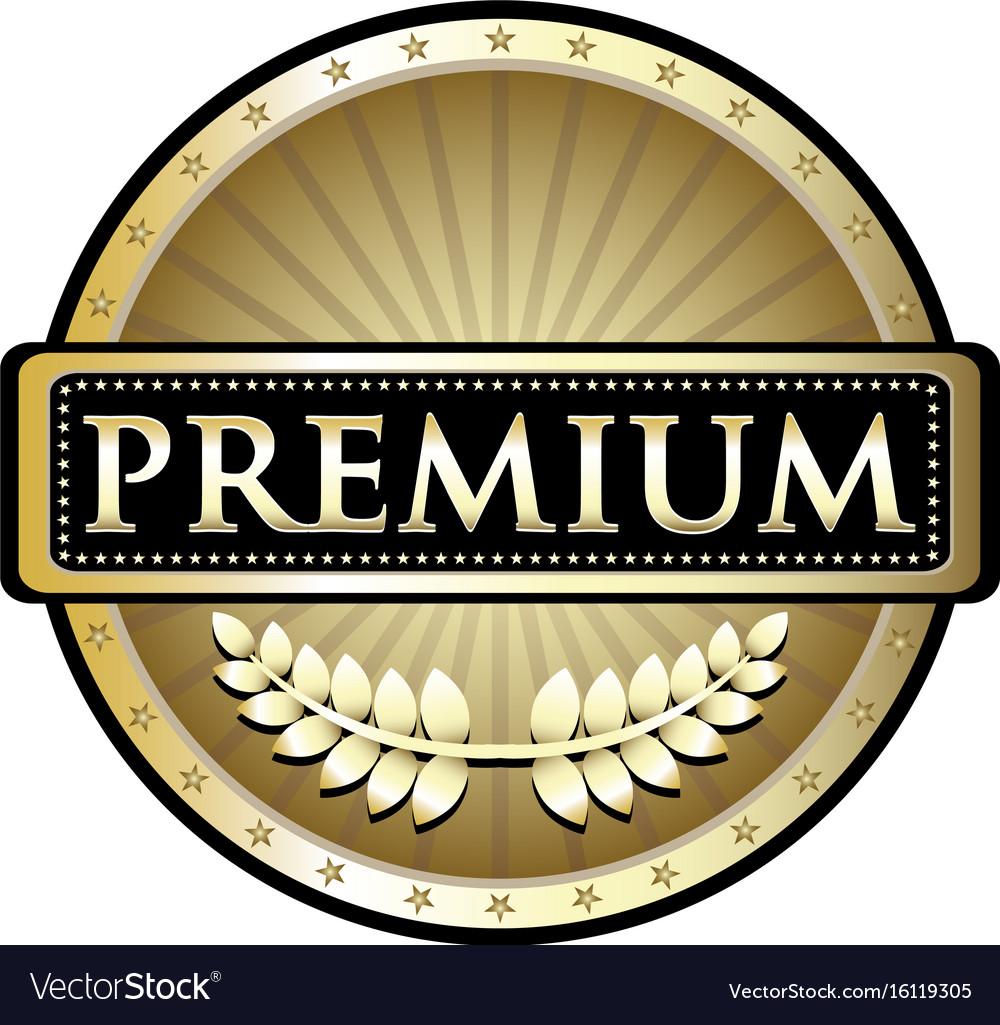 Premium gold icon