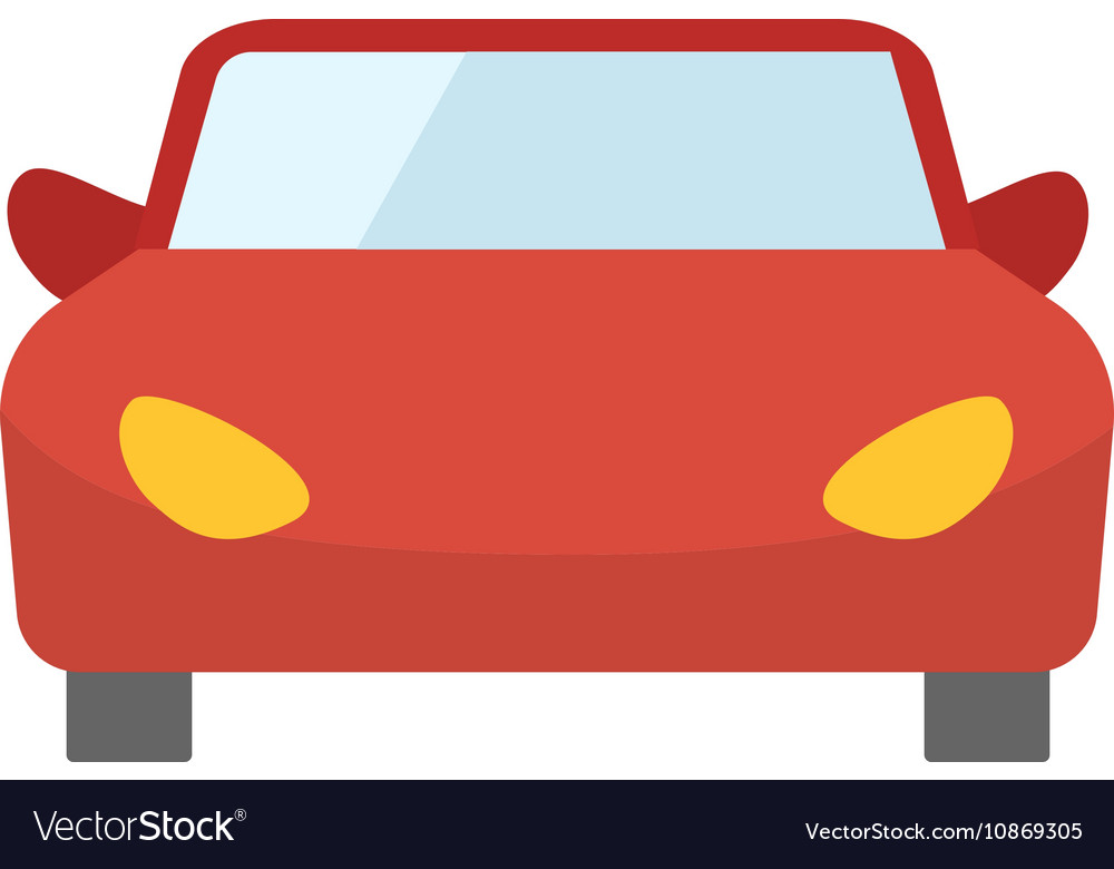 red cartoon car front view royalty free vector image