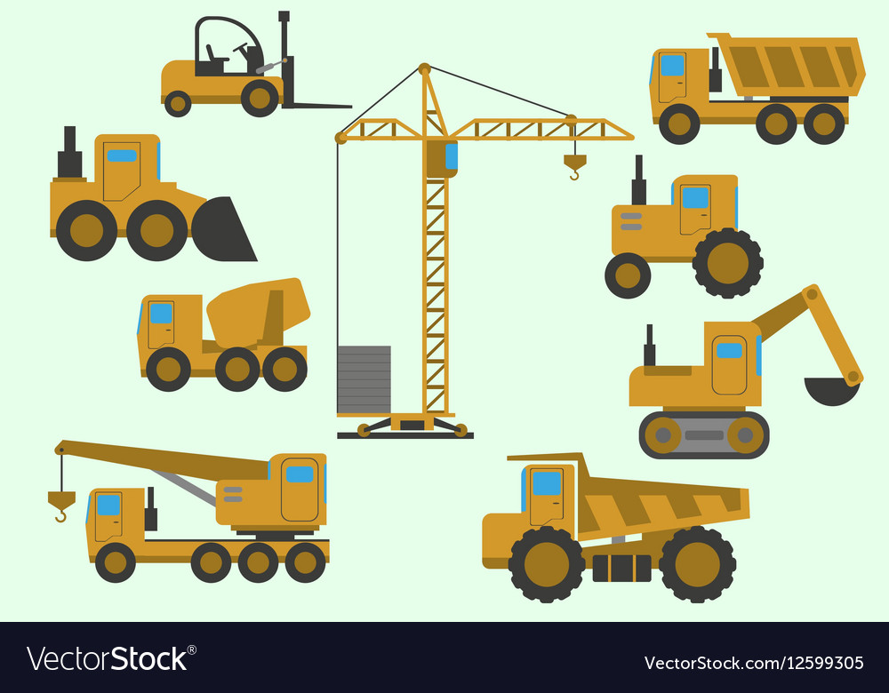 Set Of Construction Equipment
