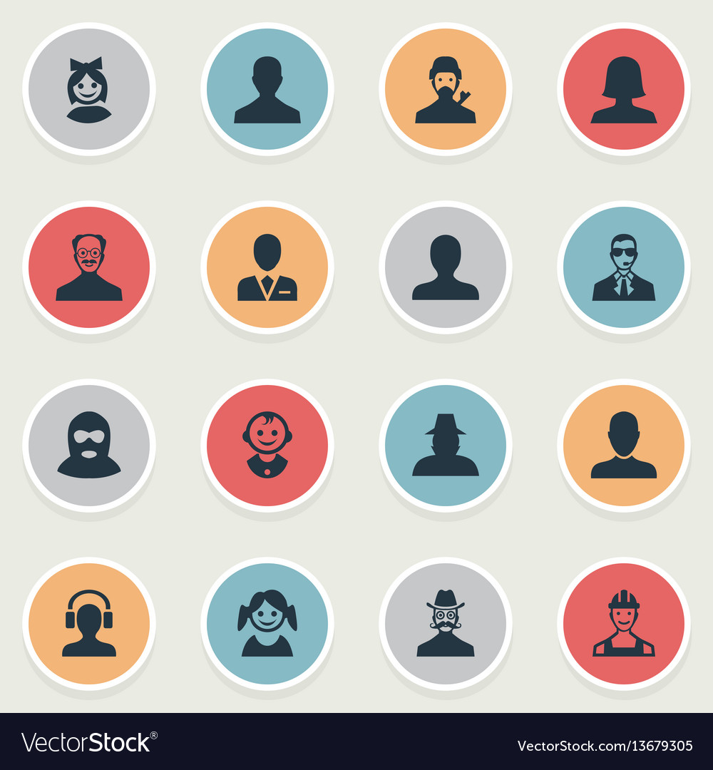 Set of simple human icons