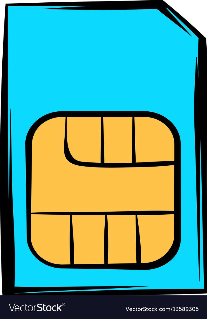 Sim card icon icon cartoon