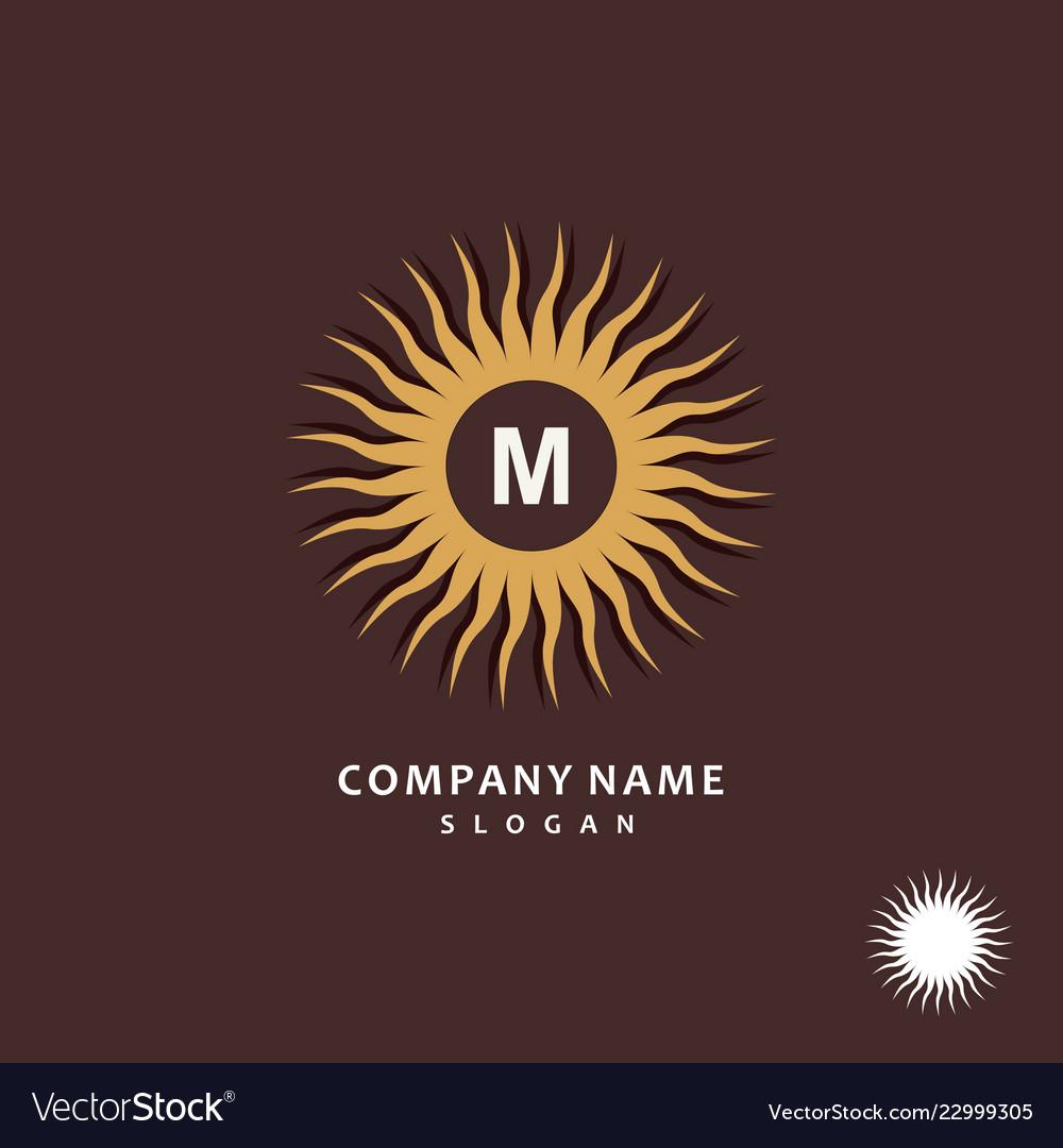 Sun stylish and graceful monogram design