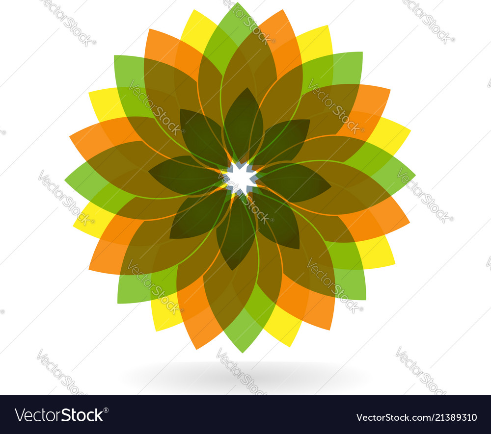 Abstract flower spring pattern logo