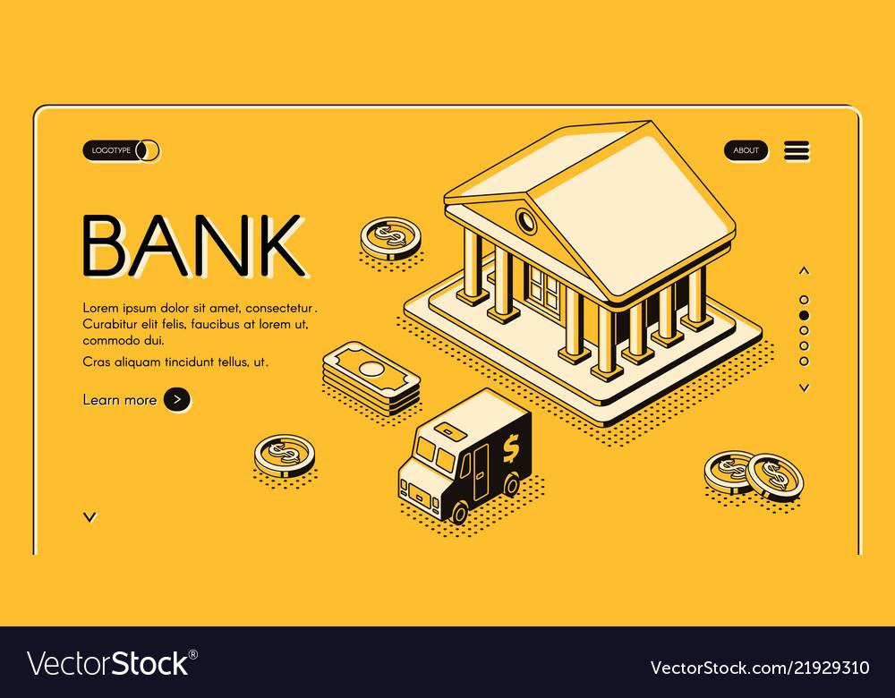 Bank money isometric halftone