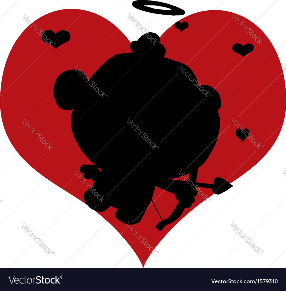Cartoon cupid silhouette