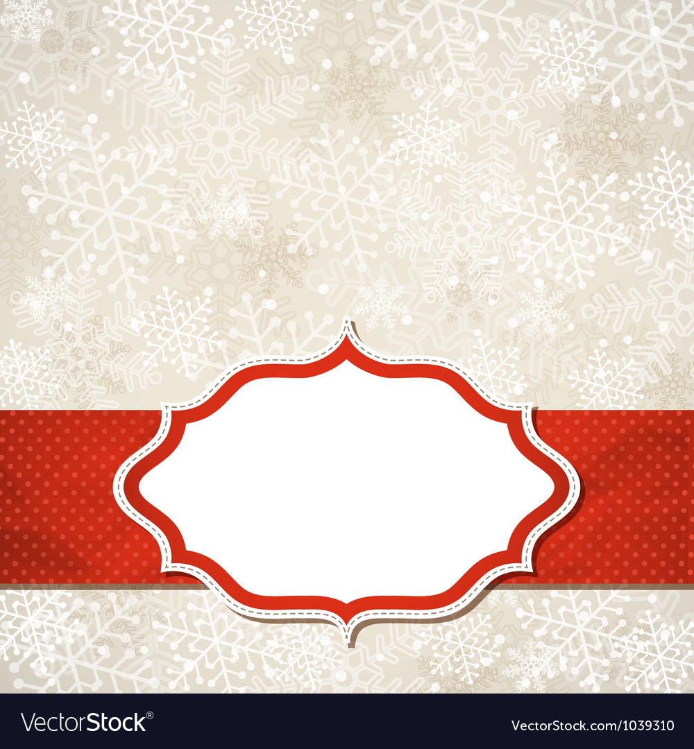 Christmas frame vector