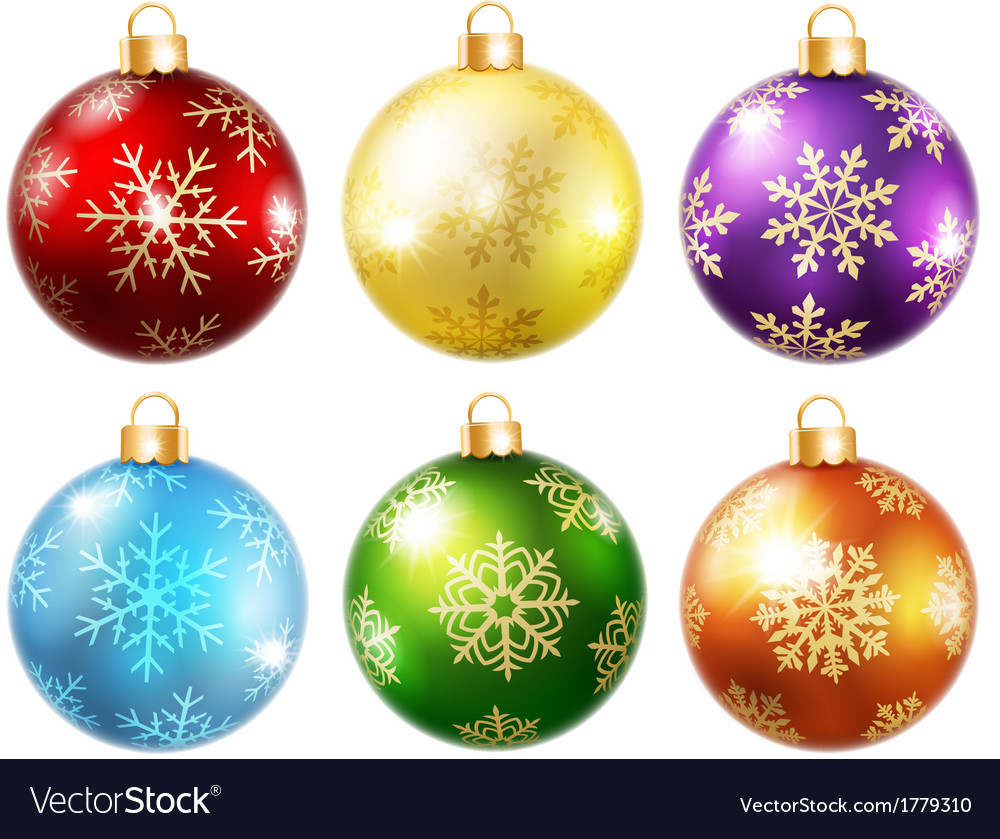 Collection of isolated christmas balls