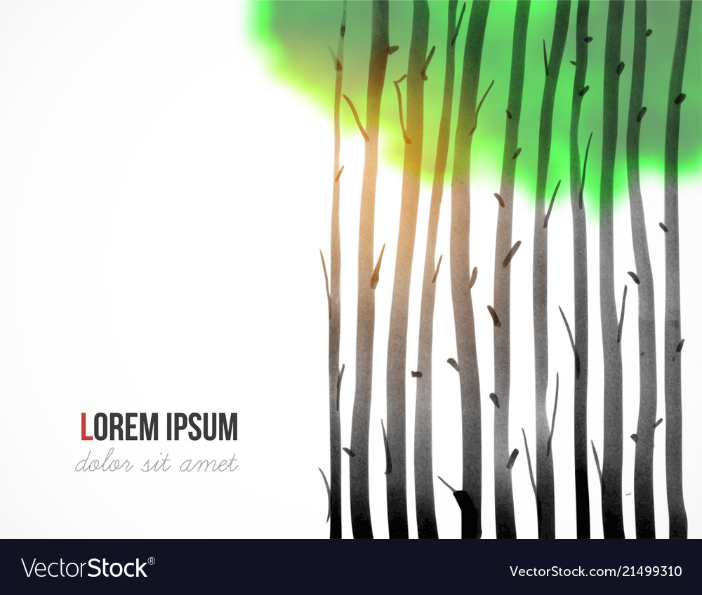 Design template with orest trees on white