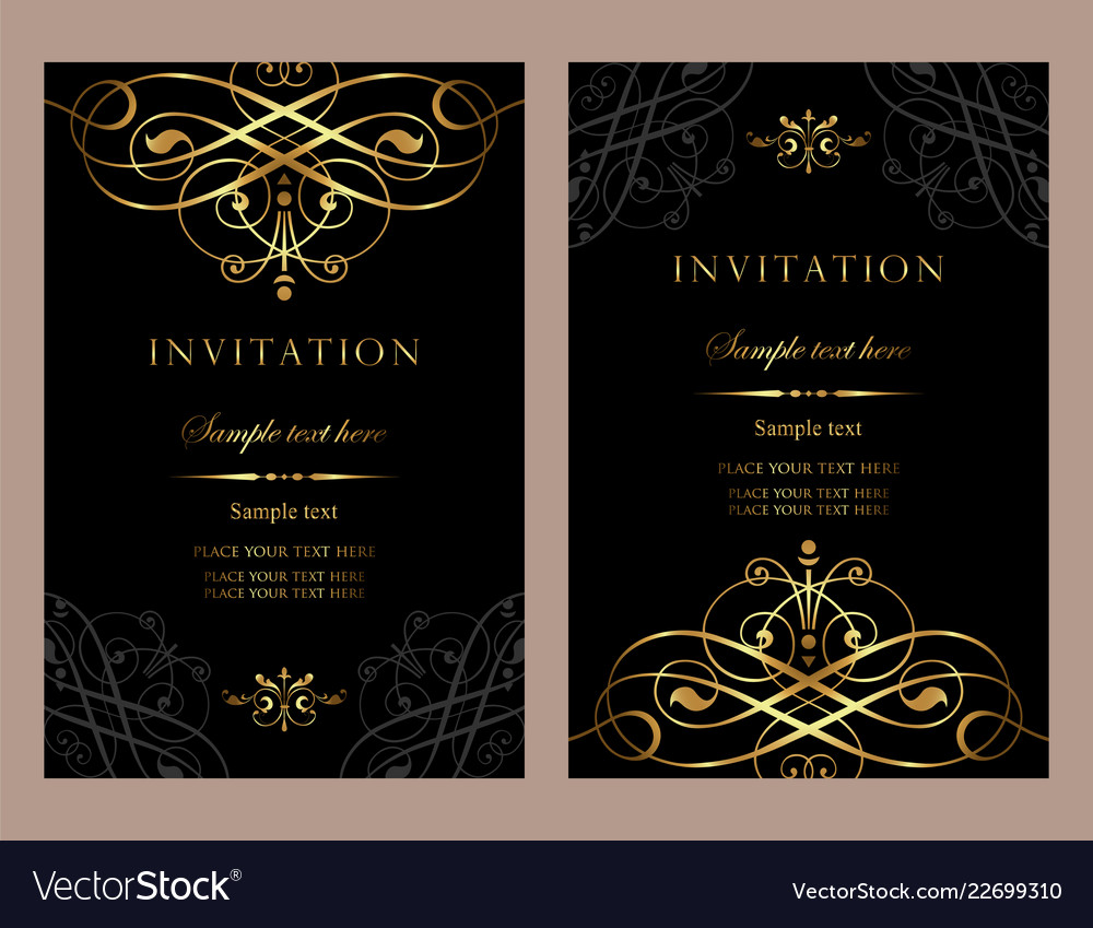 Luxury invitation card template for design Vector Image