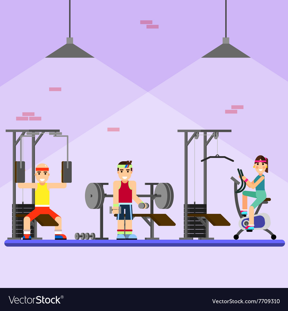 People engaged in the modern gym