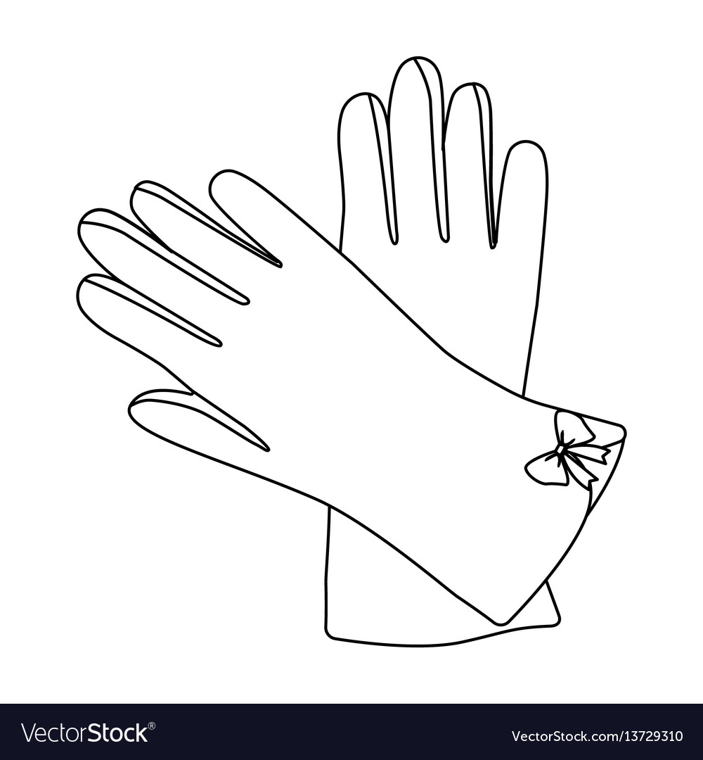 картинки перчаток черно белые монстрики