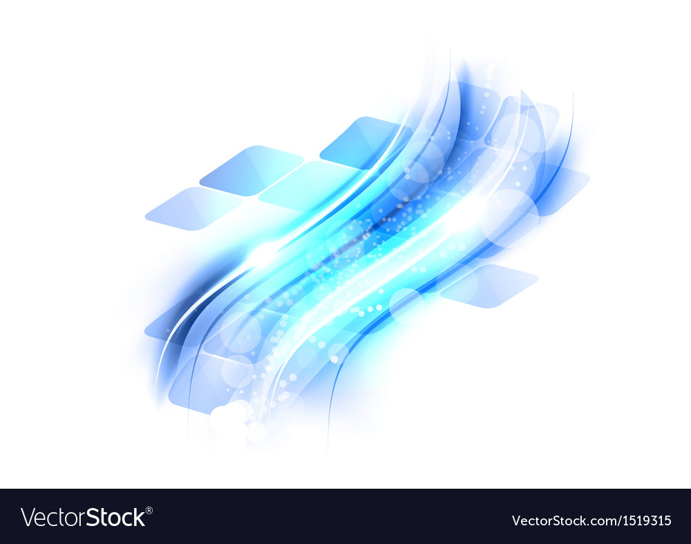 Abstract shape squares wave blue